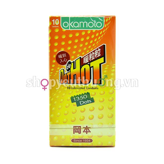 Okamoto Dot de Hot - Hộp 10 chiếc