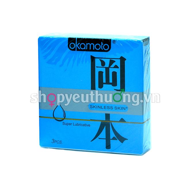 Okamoto Skinless skin (Super Lubricative) - Hộp 3 chiếc