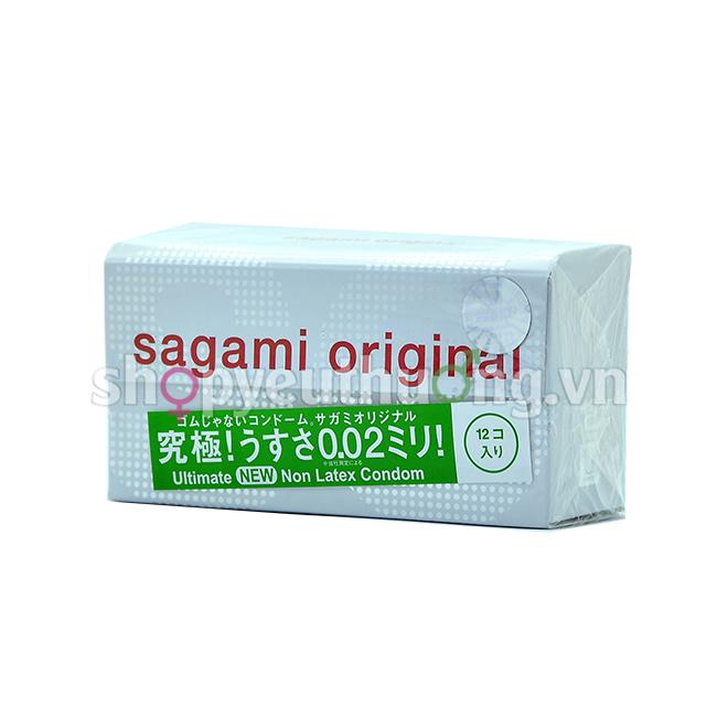 Bao cao su Sagami Original  - Hộp 12 chiếc chỉ 0.02mm đẳng cấp nhất thế giới - Truyền nhiệt ngay lập tức - Thêm tính năng mang bao cực nhanh