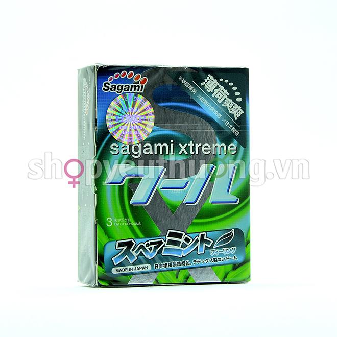 Sagami Xtreme Spearmint - Hộp 3 chiếc