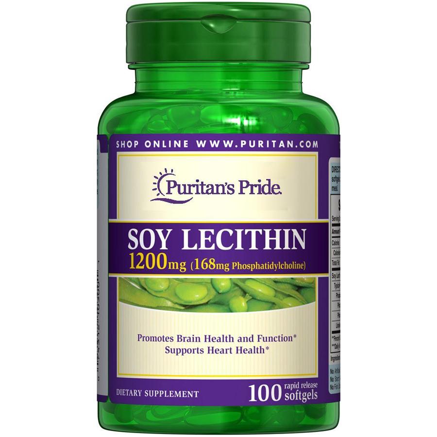 Tinh chất mầm đậu nành cho phụ nữ Soy Lecithin 1200mg - MADE IN USA