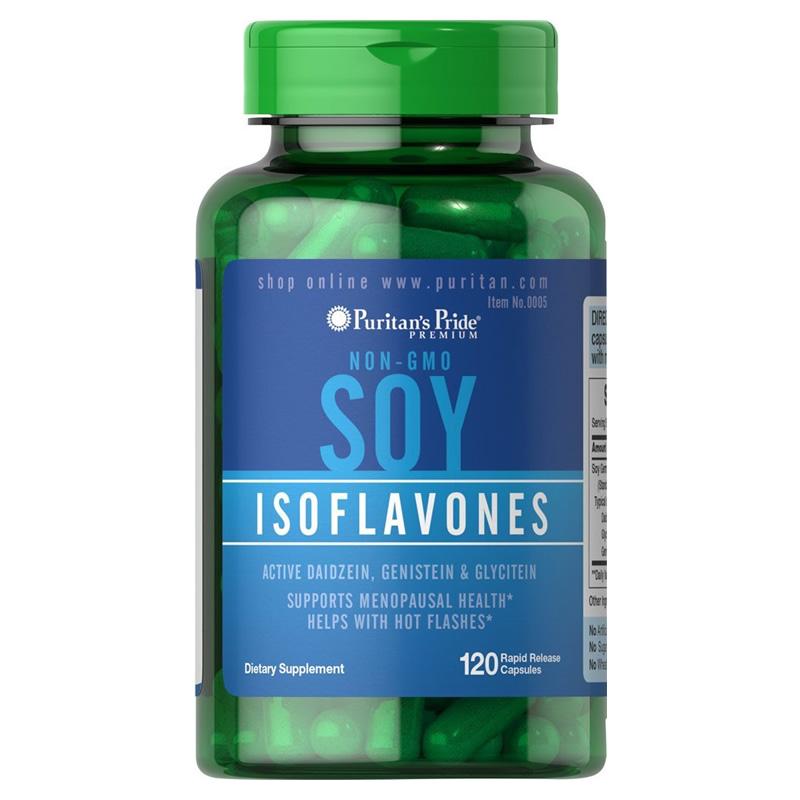Tinh chất mầm đậu nành cho phụ nữ Soy Isoflavones 120 Viên - MADE IN USA