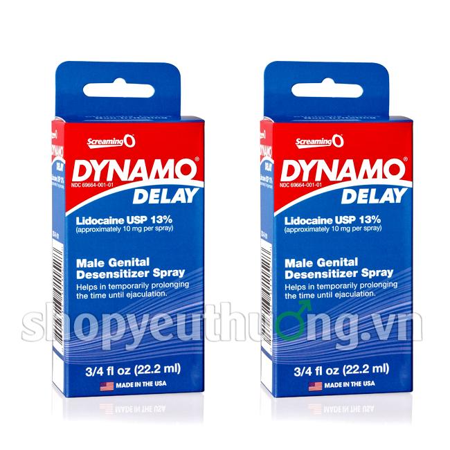 Thuốc xịt kéo dài thời gian quan hệ cho nam giới Dynamo Delay - hàng nhập khẩu chính hãng từ Mỹ